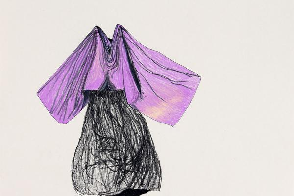 Shrouded figure